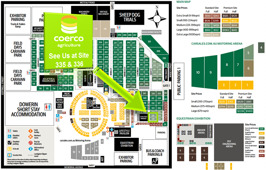 Coerco 335 & 335 Branded Dowerin Field Day Site Map.png