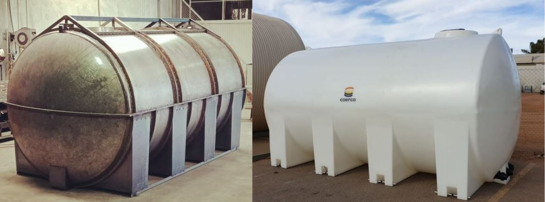 17,000-litre tank mould in progress and the new 17,000-litre cartage tank