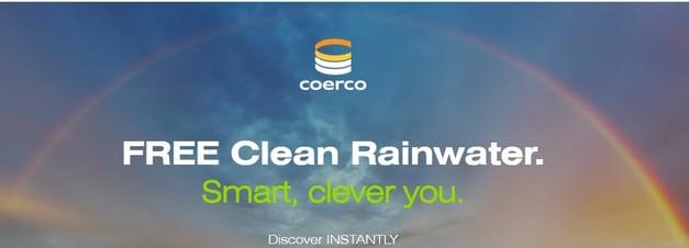 Coerco - Rainwater Calculator Landing Page