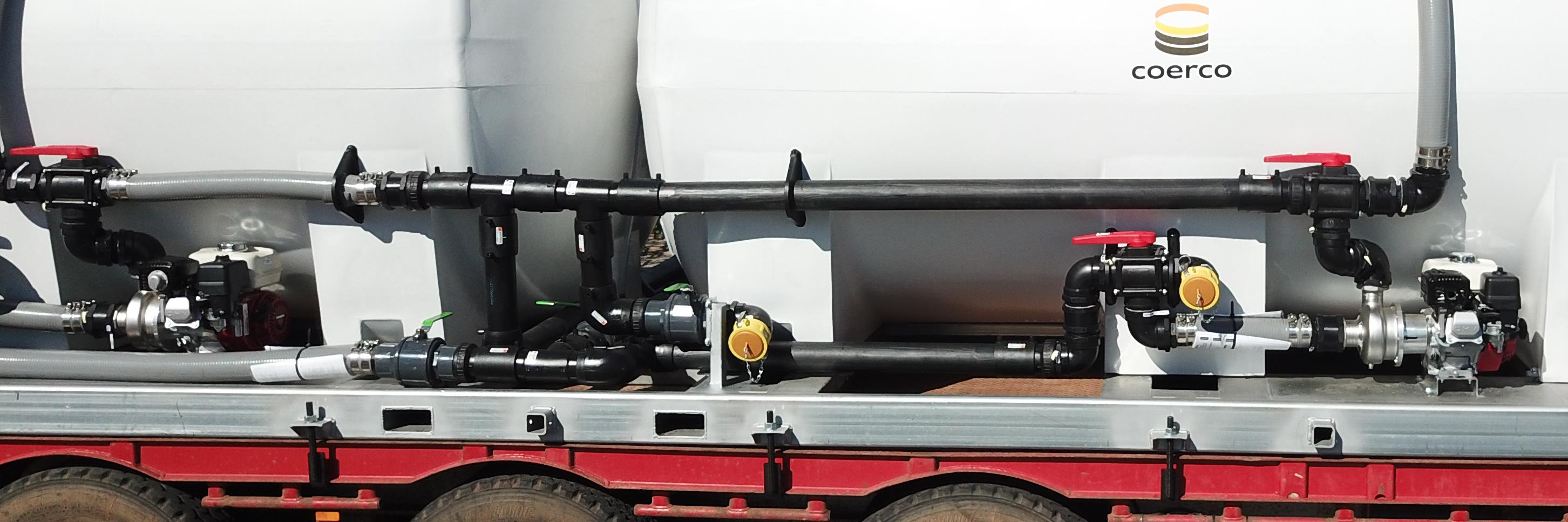 Coerco 3 inch Pump & Pipe Setup