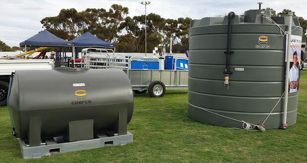 Coerco Diesel Transport and Storage products at the Wagin Woolorama 2020
