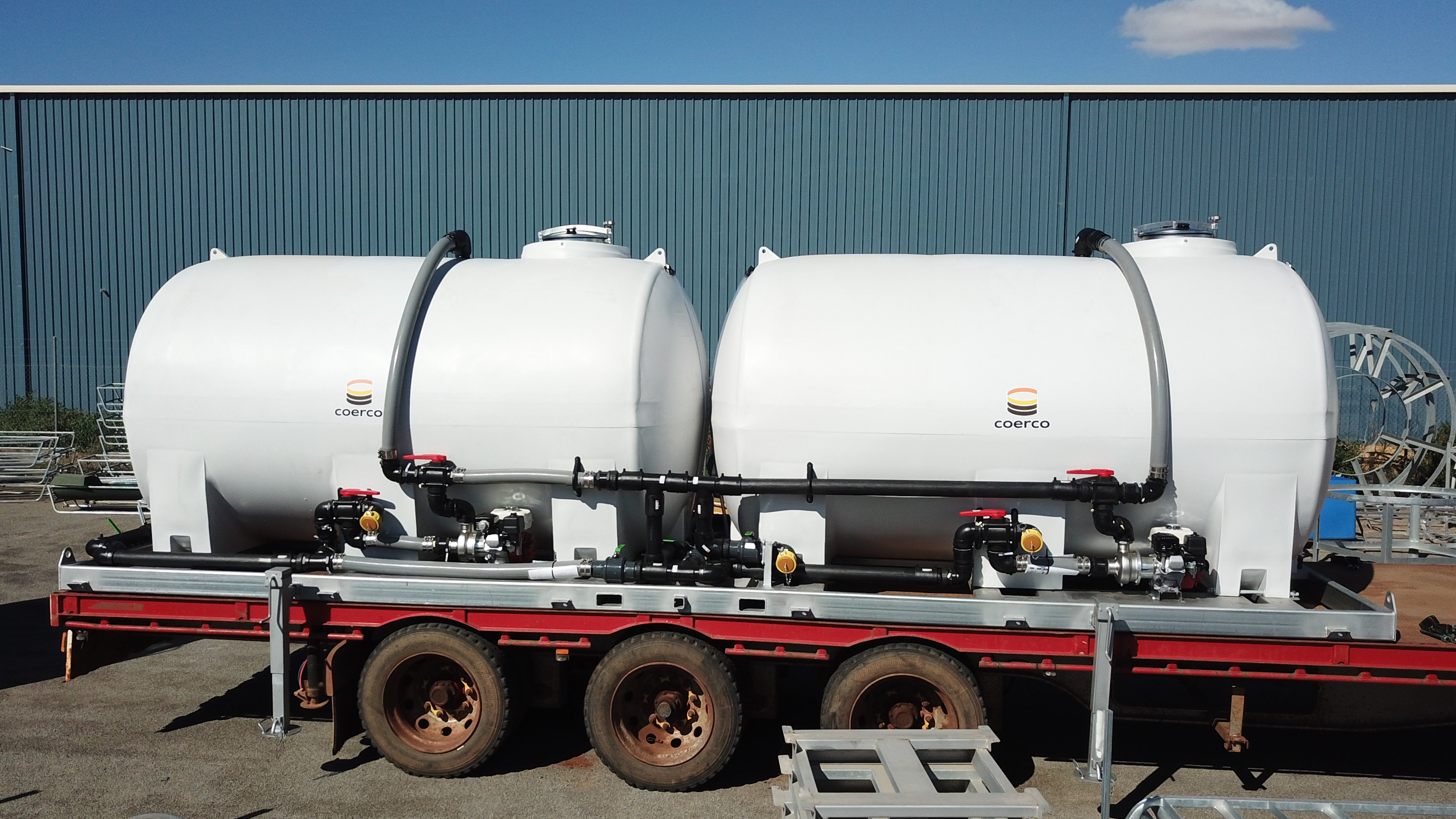 Coerco Poly Liquid Fertiliser Cartage Custom Setup
