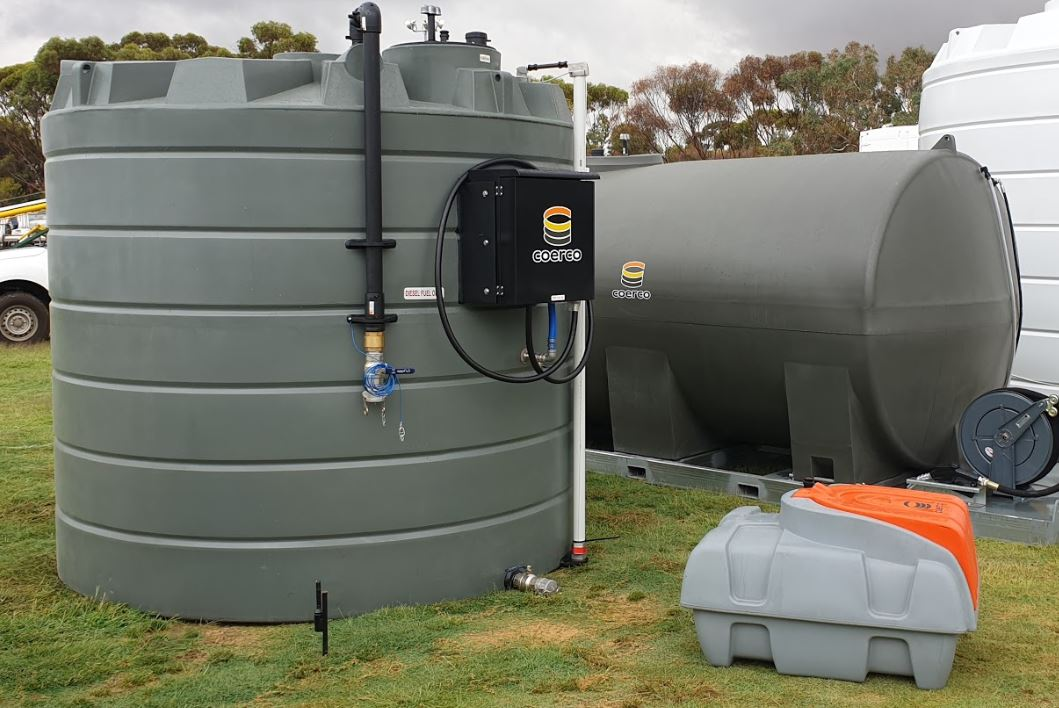 Coerco diesel storage, transport, and self-contained tanks