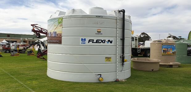 Coerco liquid fertiliser storage tank at the Wagin Woolorama 2020