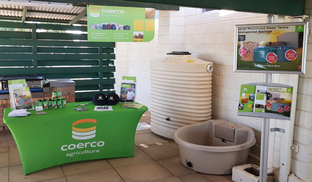 Coerco stand and products on display at the Agronomy Update