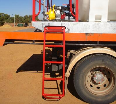 Ladder for liquid transport system