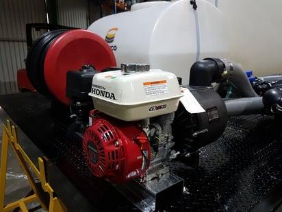 Pump powered by Honda engine