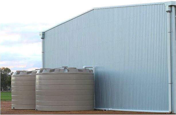 Wet rainwater harvesting system with Coerco poly tanks-1