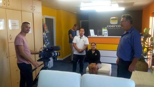 bbc crew at Coerco