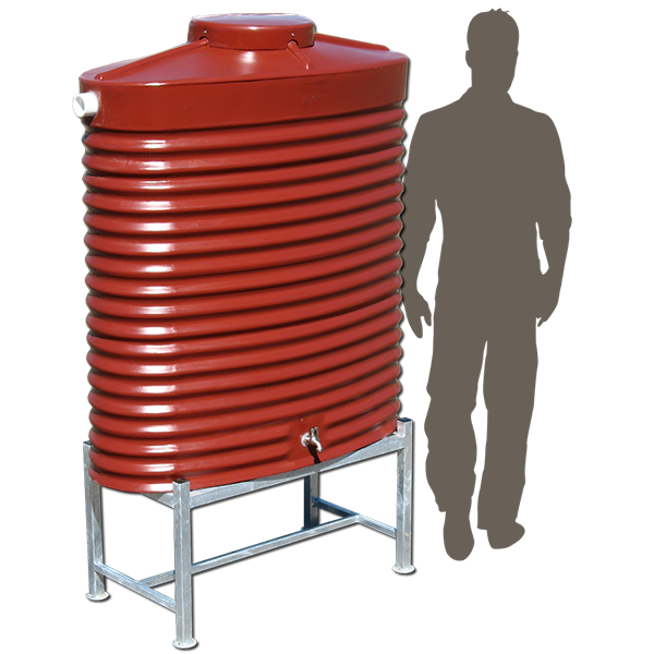 RTS800_800ltr-slimline-poly-rainwater-tank on stand_sil