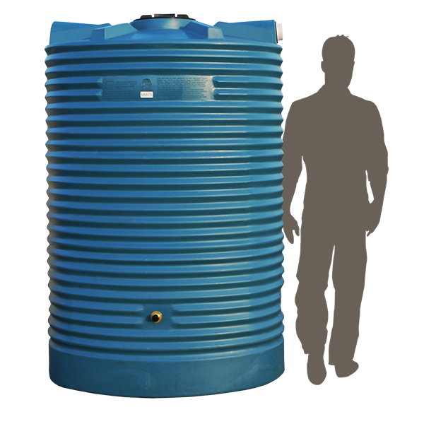 <p><strong>1,500 Litre Slimline Poly Water Tank</strong></p>