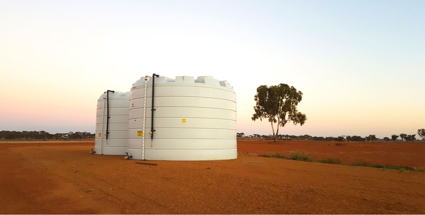 2 of Coercos liquid fertiliser storage tanks