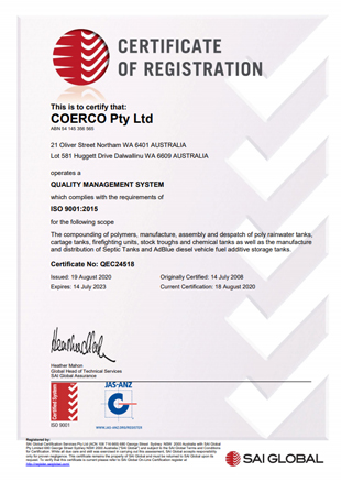 Certificate of Registation