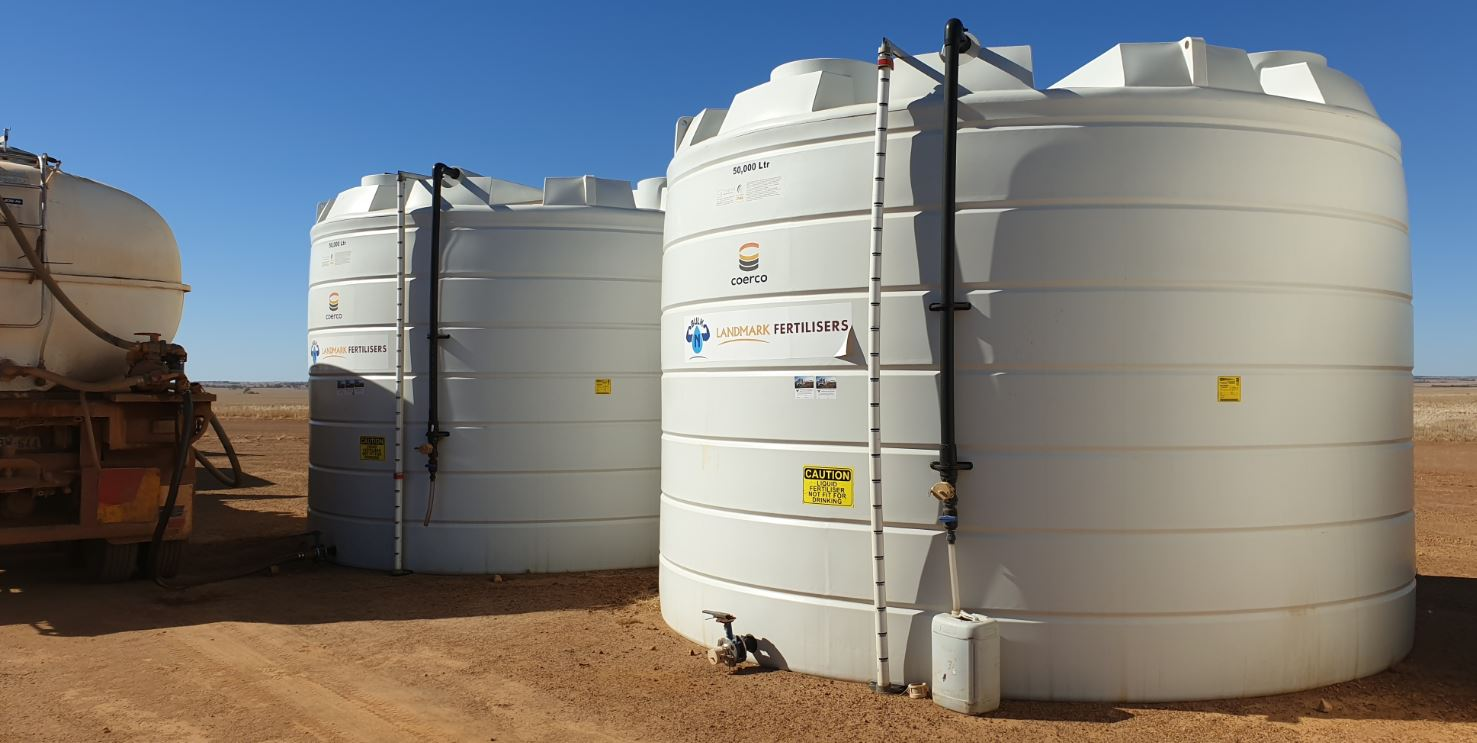 Coerco Liquid fertiliser storage tanks