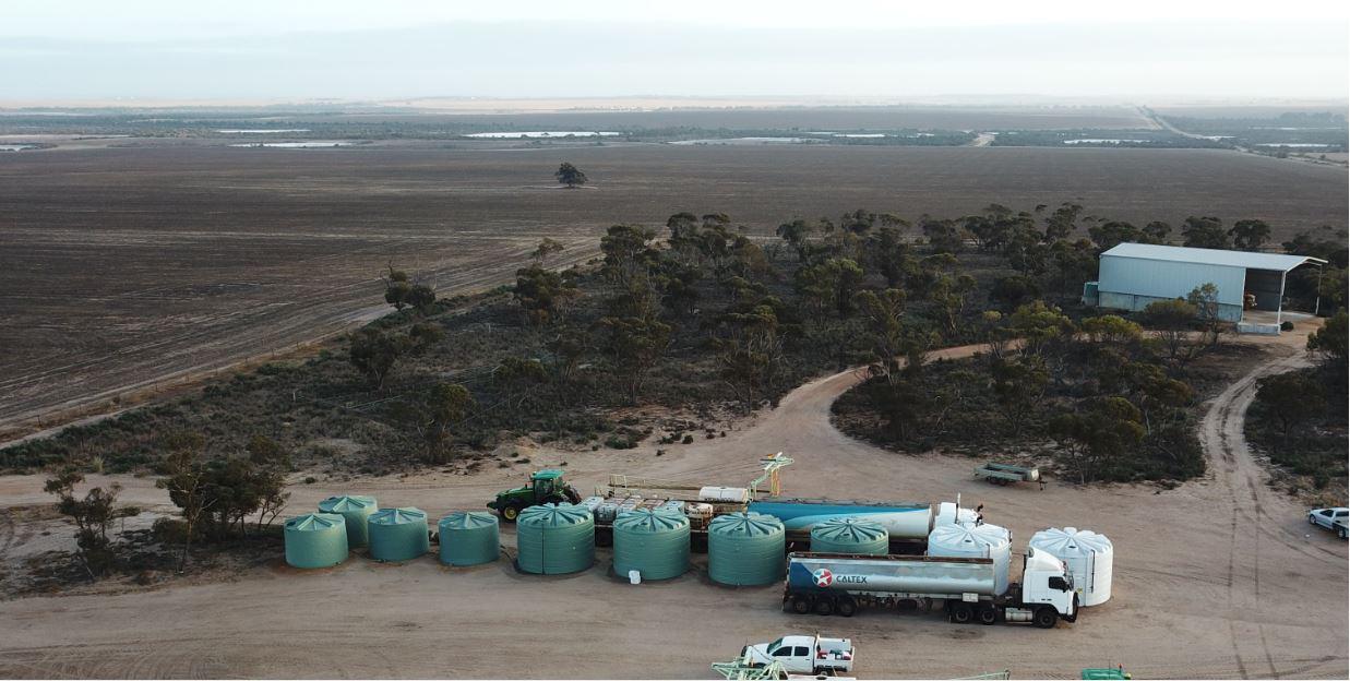 Coerco water tanks on field-1
