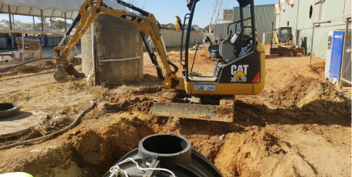 Excavator and septic tank copy