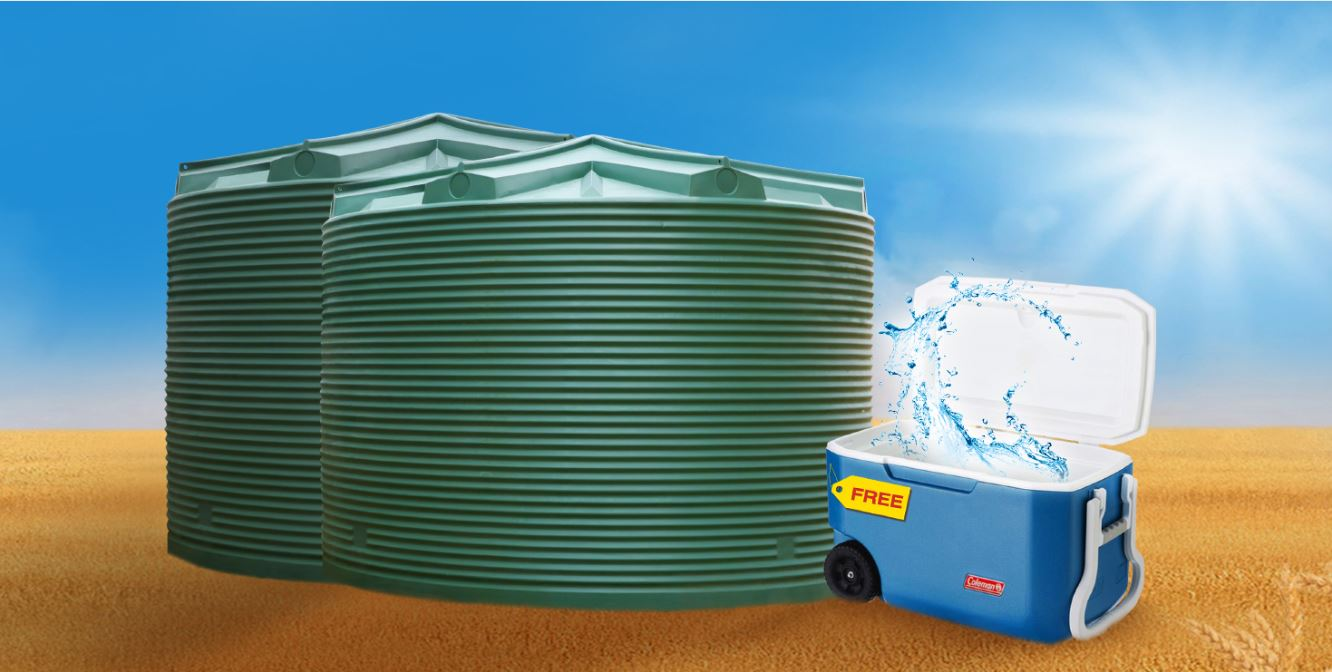 coolest water tank deal - coerco 32,000 litre water tanks